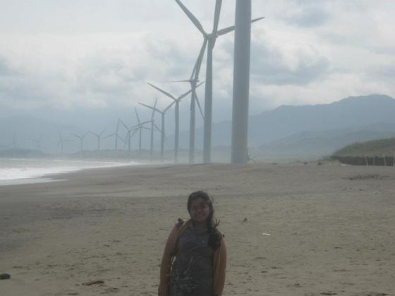 At the famed Bangui Windmills