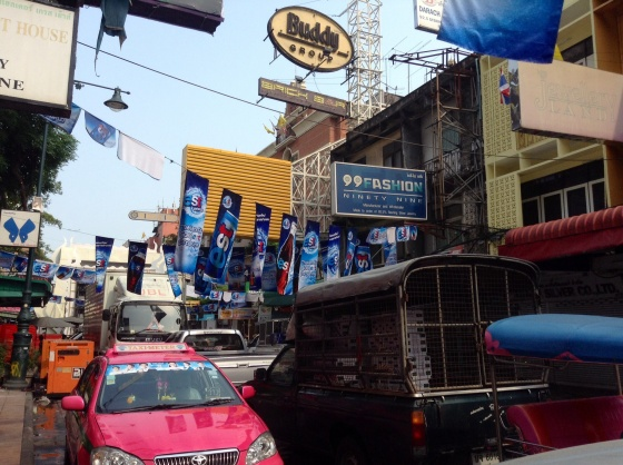 Khao San road all pumped up for the Songkran festival